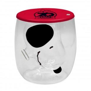 正版Snoopy (70週年版)立體造型雙層玻璃 (數量有限)